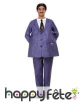 Costume violet de Gomez Addams pour homme