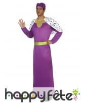 Costume violet de roi mage pour adulte