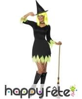 Costume vert et noir de sorcière