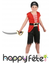 Déguisement 4 pièces de pirate pour enfant, image 1