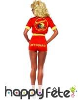 Costume alertes à Malibu sexy rouge, image 2