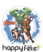 Disque azyme Avengers de 20 cm