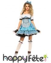 Déguisement Alice bleue steampunk
