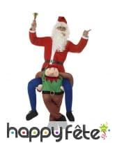 Déguisement à dos d'Elfe de Noël