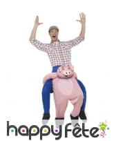 Déguisement à dos de cochon
