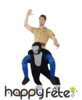 Déguisement à dos de gorille
