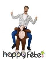 Déguisement à dos de singe