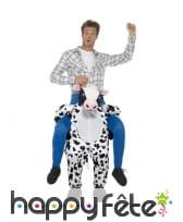 Déguisement à dos de vache