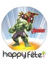 Disque azyme Iron Man et hulk, Avengers de 20cm