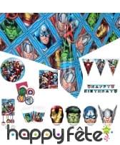 Déco Avengers Mighty pour table d'anniversaire