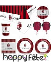 Décoration AC Milan de table