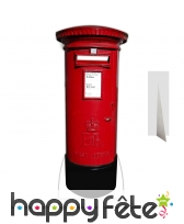 Décor boite aux lettres rouge en carton plat