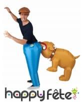 Déguisement Bulldog aux fesses, gonflable, image 1