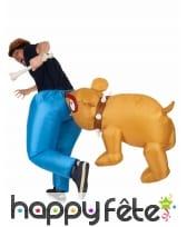 Déguisement Bulldog aux fesses, gonflable, image 2