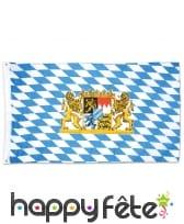 Drapeau bavarois à fond blanc et bleu, 90x150cm