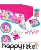 Déco Barbie Dreamtopia pour table d'anniversaire