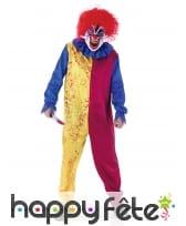 Déguisement bicolore de clown tueur