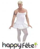 Déguisement blanc de danseuse étoile pour homme