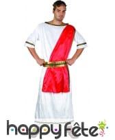 Déguisement blanc de Jules César avec toge rouge, image 3