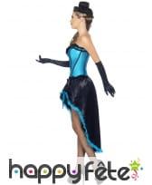 Déguisement bleu danseuse burlesque, image 2