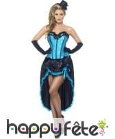 Déguisement bleu danseuse burlesque