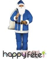 Déguisement bleu de Père Noël