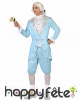 Déguisement bleu de prince baroque