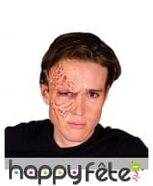 Demi brûlure de visage Freddy Krueger