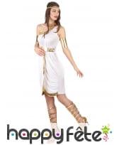 Déguisement blanc et doré de déesse Grecque, image 1