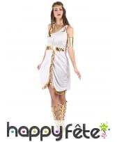 Déguisement blanc et doré de déesse Grecque