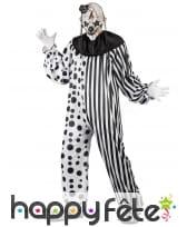 Déguisement blanc noir de clown tueur, image 1