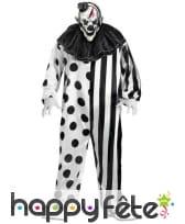 Déguisement blanc noir de clown tueur, image 2