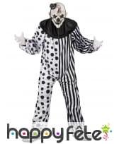 Déguisement blanc noir de clown tueur