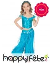 Déguisement bleu oriental pour fille