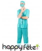 Déguisement bloc opératoire pour adulte, image 1