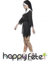 Déguisement bonne soeur zombie robe courte, image 2