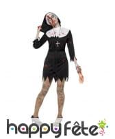 Déguisement bonne soeur zombie robe courte