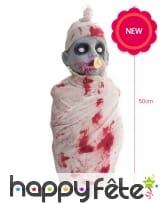 Décoration bébé zombie de Halloween, 50cm, image 1