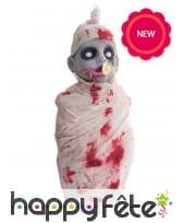 Décoration bébé zombie de Halloween, 50cm