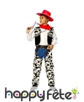 Déguisement cow-boy vachette pour enfant