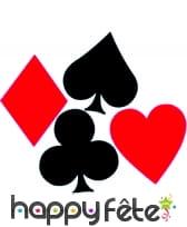 Décor carte de poker