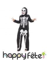 Déguisement combinaison de squelette pour enfant
