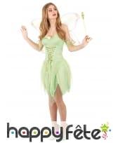 Déguisement court de fée verte pour femme, image 1