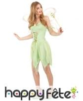 Déguisement court de fée verte pour femme, image 2