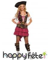 Déguisement court de femme pirate baroque