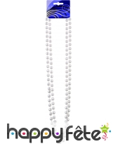 Double collier de perles blanches