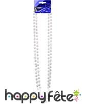 Double collier de perles blanches