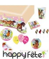 Décoration Charming Horses pour table
