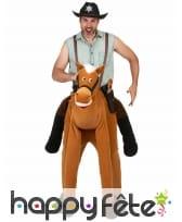 Déguisement carry me à dos de cheval pour adulte, image 1