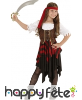 Déguisement corset marron de pirate enfant